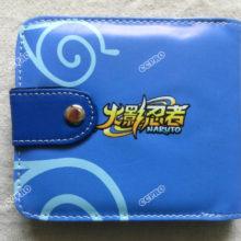 Fabulous NARUTO short PU wallet w/Sasuke Uchiha & Kakashi Hatake