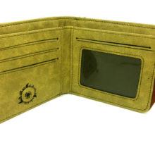 Khaki PU leather Uchiha Itachi purse / wallet