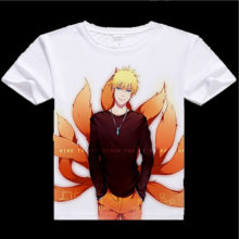 Naruto's colorful digital printing t-shirt