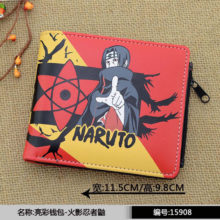New Naruto's Itachi Uchiha PU leather wallet / purse