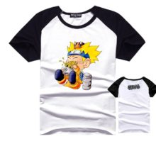 Outstanding black & white Naruto's shirt for any ocassion