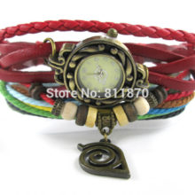 Stunning Naruto's Konoha Logo Bracelet / Wristle Bangles Watch
