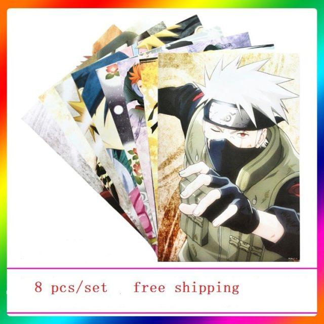 Vibrant A3 Naruto posters (8 pieces set)