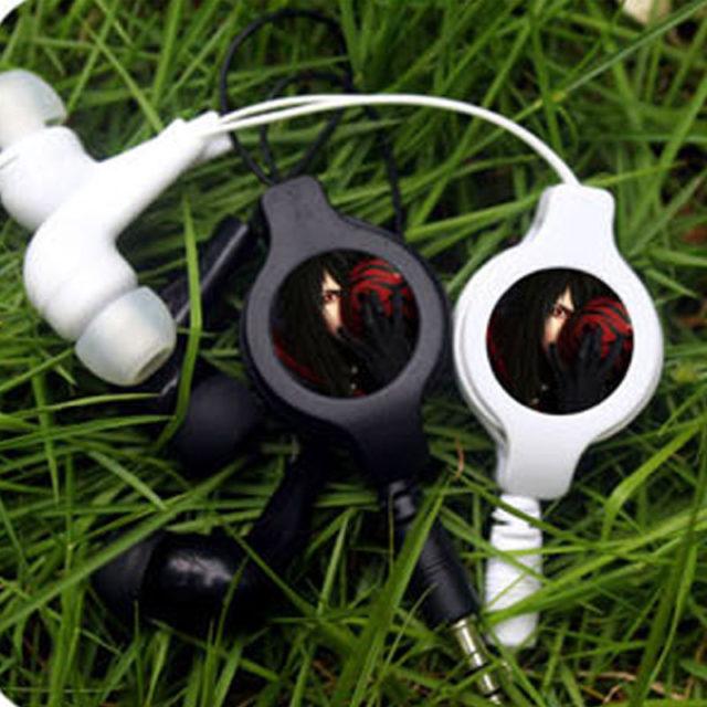 Superior Naruto's Kurenai Yuhi Sarutobi Retractable Wired Stereo Earphones