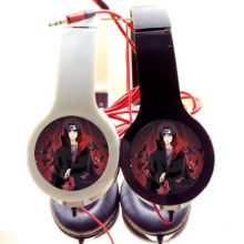 Astonishing NARUTO's Sasuke Uchiha Adjustable / Foldable Stereo Headphones