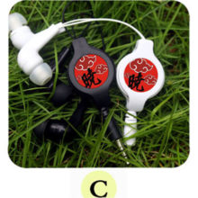 Awesome Naruto's Akatsuki Cloud Portable Earphones