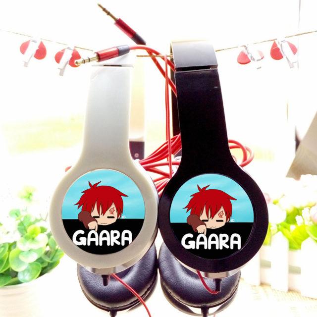 Cool Naruto & Sabaku no Gaara adjustable headphones