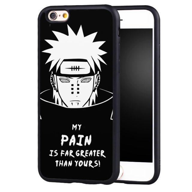 """Naruto's """"My Pain Is Far Greater Than Yours"""" Soft TPU Phone Case for iPhone 6, 6S, Plus, SE, 5, 5S, 5C, 4, 4S"""