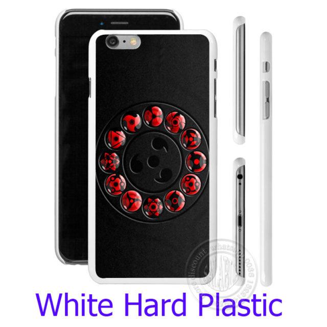 Black Naruto's Sharingan Hard Phone Case for iPhone 5S, 5, SE, 5C, 4, 4S, 6, 6S, 7 Plus