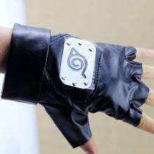 Amazing Sasuke Uchiha / leaf village symbol Cosplay Gloves