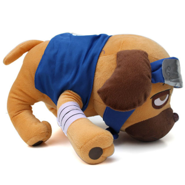 Naruto's Kakashi Pakkun Pug Dog Plush Toy