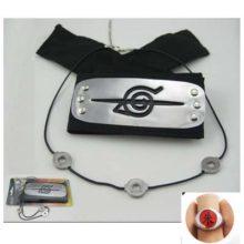 Great 3pcs/set incl. Naruto's headband, ring and pendant/collar