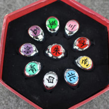 10pcs set of Naruto's Akatsuki Members' cosplay ring