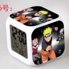 Amazing Naruto's Glowing Led Digital Alarm Clock