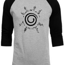 Cool naruto's Four Symbols Seal baseball jersey