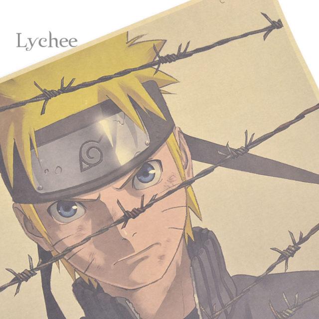 Vintage, retro Naruto Uzumaki's kraft paper Wall Poster