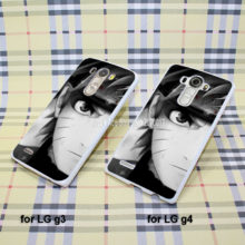 Naruto black & white phone cover for LG G3 G4