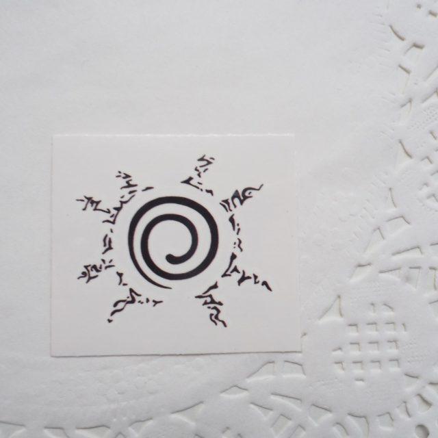Cool Naruto's Kurama cosplay tattoo sticker