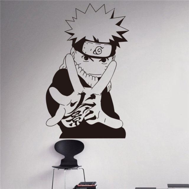 Black & White Naruto's Home Wall Decal / Vinyl Sticker
