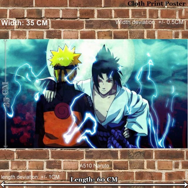 Fabulous Naruto & Sasuke cloth poster / wall decal