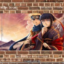 Fantastic Naruto & Hinata cloth poster / wall decal