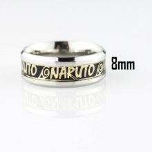 Amazing stainless steel Naruto logo ring in 4 colors
