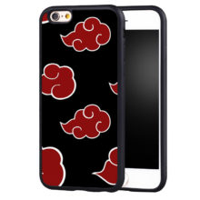 Akatsuki Clan's Cloud Symbol Soft TPU Phone Case For iPhone 6 6S Plus SE 5 5S 5C 4 4S