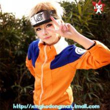 Amazing Naruto Uzumaki's Cosplay Costume with jacket, pants and headband