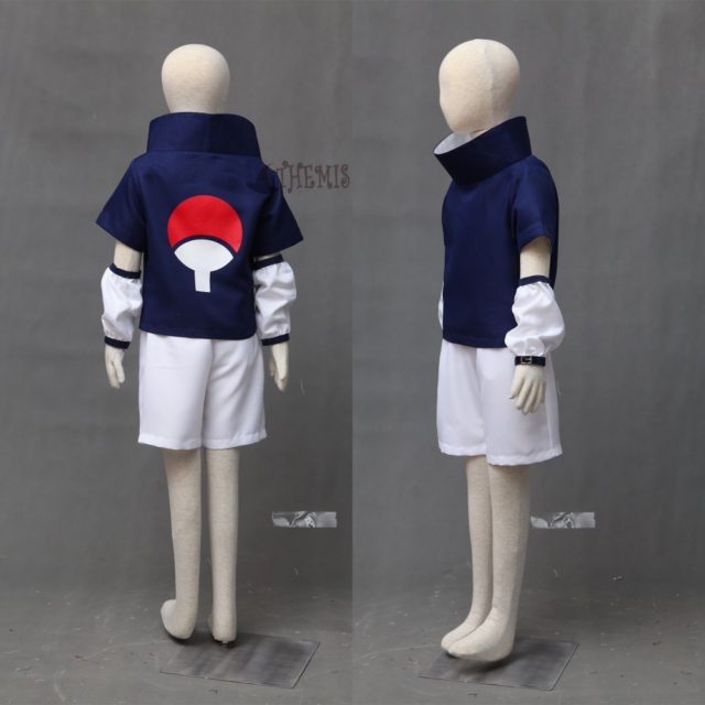 Amazing Sasuke Uchiha Cosplay Costume With Blue Headband