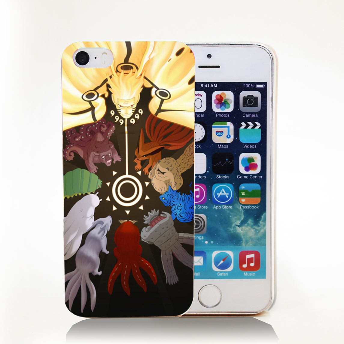 Cool Naruto\u002639;s Tailed Beast Hard Cover Case for iPhone 4, 4s, 5, 5s, 5c, 6, 6s, 6s Plus