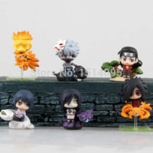 Beautiful 6pcs/set of Naruto's Mini PVC Action Figures / Toys
