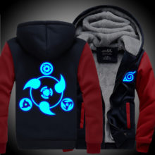 Great glow-in-the-dark winter NARUTO hoodie / jacket