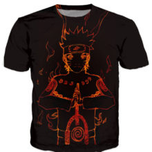Incredible, colorful new 3D Naruto t-shirt