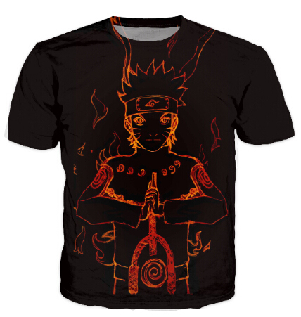 Incredible, colorful new 3D Naruto t-shirt