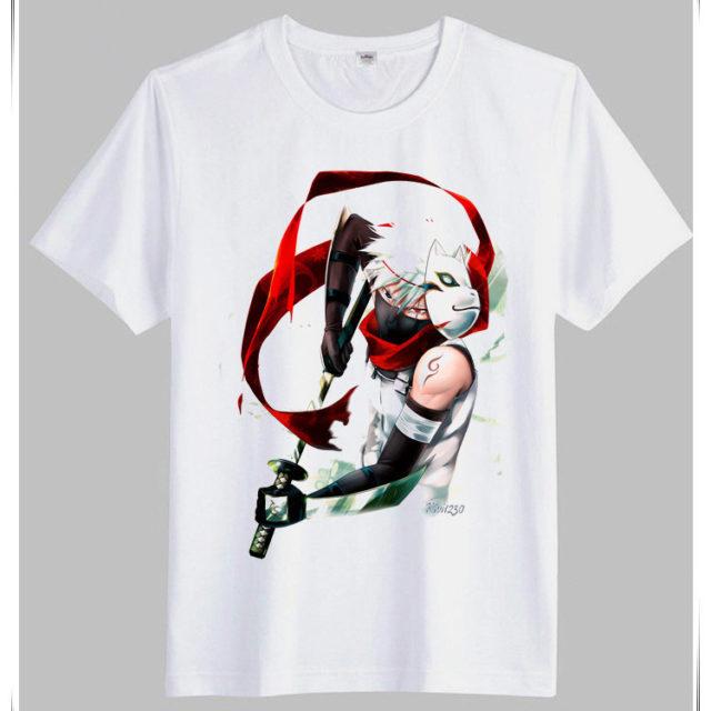 Superb white Kakashi t-shirts (several designs available)