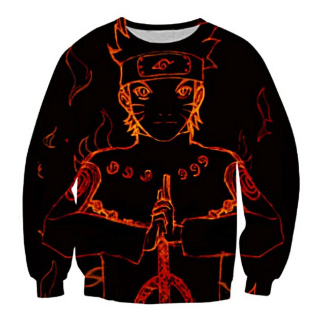 Astounding, colorful spring-autumn Naruto 3D Sweater / Sweatshirt