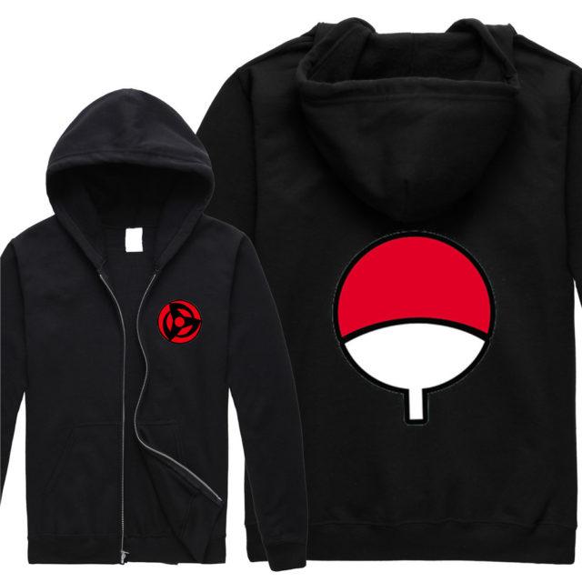Superb Uchiha clan symbol hoodie (several colors & designs)