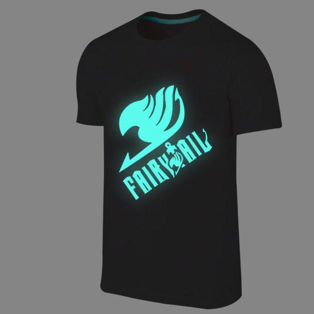 Glow-in-the-dark, fluorescent Fairy Tail t-shirt