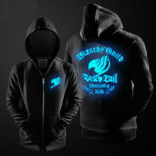Luminous Fairy Tail Wizard's Guild zip-up hoodie