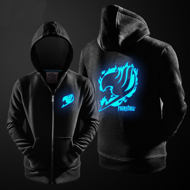 Luminous Fairy Tail Wizard's Guild zip-up hoodie