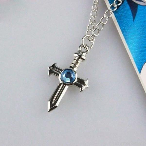 Fairy Tail Cross Necklace pendant