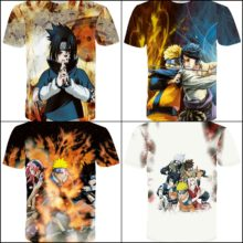 Amazing all-over-print Naruto T-shirts (several designs)