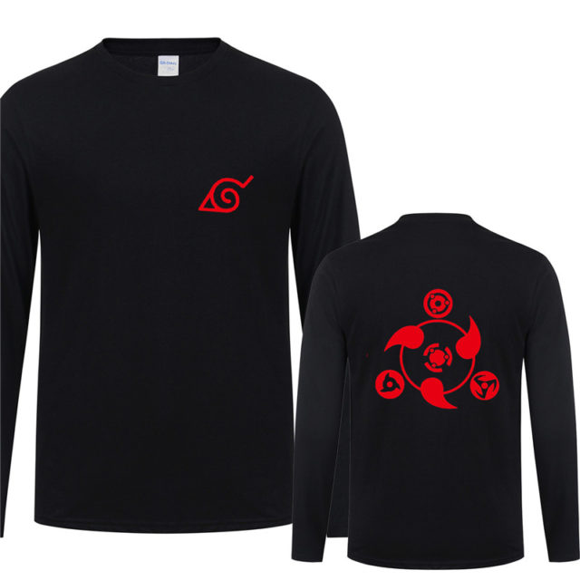 Wonderful Naruto's Uchiha Clan Long Sleeve T-shirt