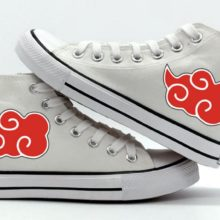 Naruto's Akatsuki Red Clouds Converse-inspired sneakers