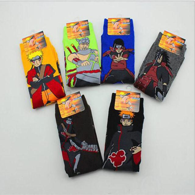 Amazing multicolor Naruto characters socks