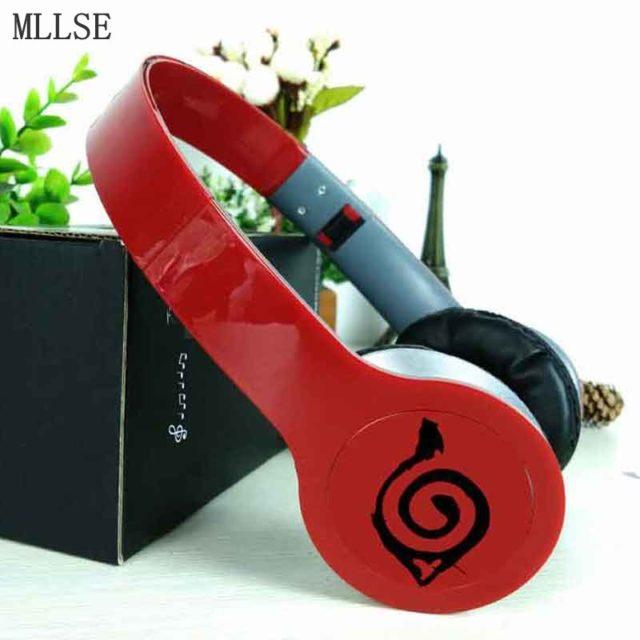 Kick-ass Naruto Konoha Leaf earphones / headphones