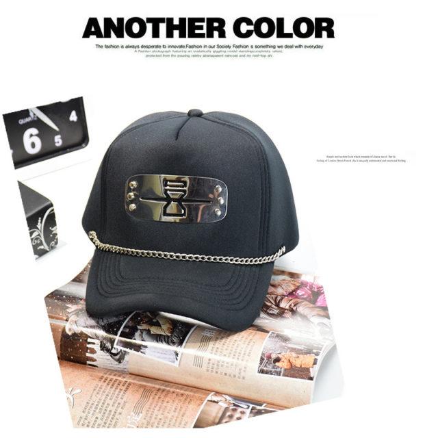 Great Naruto metal symbols hats