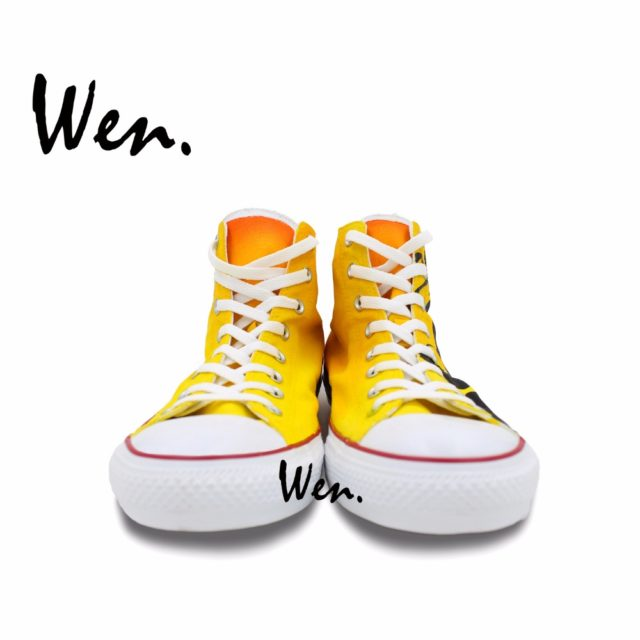 Awesome Converse-style orange sneakers / shoes