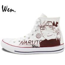 Great Kakashi & Naruto Converse-style sneakers
