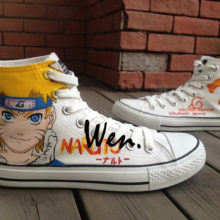 Fantastic Converse-style Uzumaki Naruto High Top Sneakers